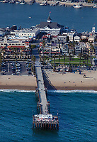 aerial photograph of Balboa Pier, Newport Beach, Orange County, California