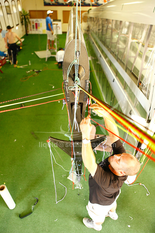 Preparation of the CClass Catamaran.