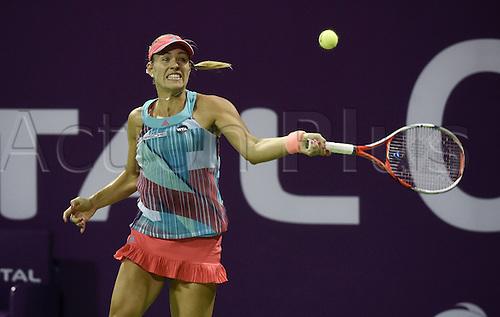 23.02.2016. Doha, Qatar. Qatar Total Open championships.  Angelique Kerber Germany
