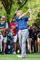 Jordan Spieth (USA) watches his tee shot on 17 during round 4 of the World Golf Championships, Mexico, Club De Golf Chapultepec, Mexico City, Mexico. 3/5/2017.<br /> Picture: Golffile | Ken Murray<br /> <br /> <br /> All photo usage must carry mandatory copyright credit (&copy; Golffile | Ken Murray)