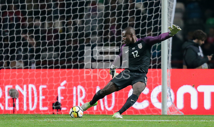 Leiria, Portugal - Tuesday November 14, 2017: Bill Hamid during an International friendly match between the United States (USA) and Portugal (POR) at Estádio Dr. Magalhães Pessoa.