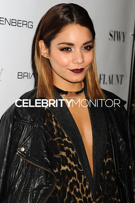 NEW YORK CITY, NY, USA - SEPTEMBER 03: Vanessa Hudgens arrives at the Flaunt Magazine Distress Issue Launch held at Gilded Lily on September 3, 2014 in New York City, New York, United States. (Photo by Celebrity Monitor)
