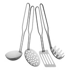 X-ray image of cooking utensils (black on white) by Jim Wehtje, specialist in x-ray art and design images.