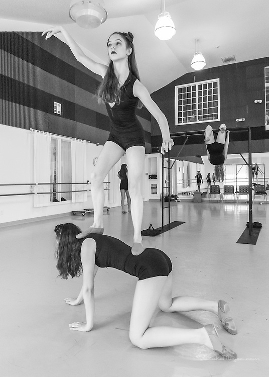 """Studio Rehearsal, 3D Project Jazz Company """"IX"""", 9th Annual Spring Showcase, Cary Ballet Conservatory, 14 April 2012."""