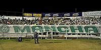 SÃO PAULO, SP, 29 DE AGOSTO DE 2012 - CAMPEONATO BRASILEIRO - PORTUGUESA x PALMEIRAS: Torcida Mancha Verde do Palmeiras de volta aos estádios durante partida Portuguesa x Palmeiras, válida pela 20ª rodada do Campeonato Brasileiro de 2012 no Estádio do Canindé. FOTO: LEVI BIANCO - BRAZIL PHOTO PRESS