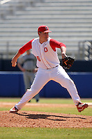 March 23, 2010:  Pitcher Eric Shinn of the Ohio State University Buckeyes during a game at the Chain of Lakes Stadium in Winter Haven, FL.  Photo By Mike Janes/Four Seam Images