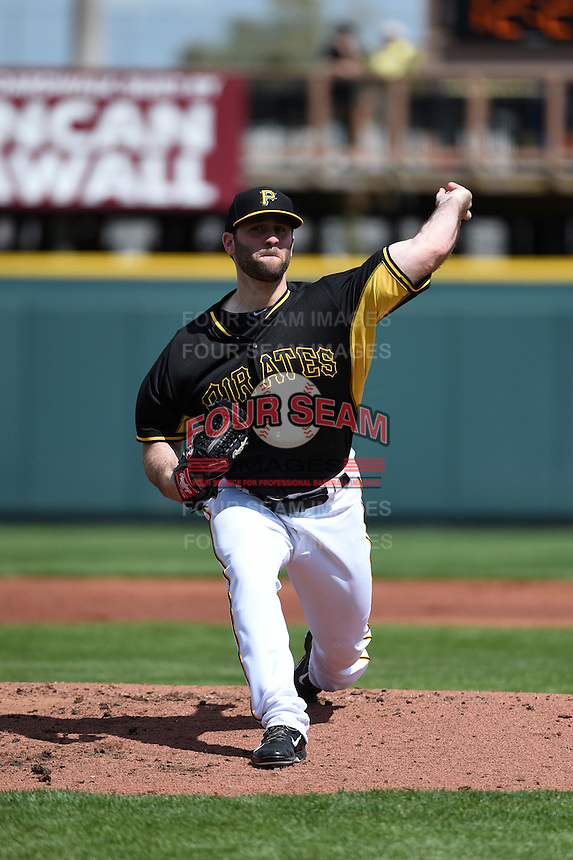 Pittsburgh Pirates pitcher Jeremy Bleich (68) during the Black & Gold intrasquad game on March 2, 2015 at McKechnie Field in Bradenton, Florida.  (Mike Janes/Four Seam Images)