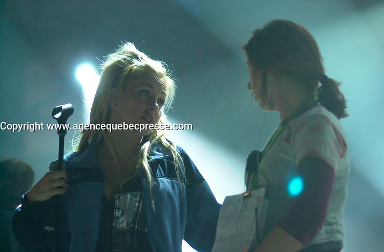 Veronique Cloutier on <br />  the set of LES DANGEREUX, Directed by Louis Saia<br /> <br /> photo : (c)  Images Distribution