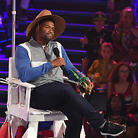 SANTA MONICA, CA - JULY 11: Host Michael Strahan on the Nickelodeon Kids' Choice Sports 2019 at the Barker Hangar on July 11, 2019 in Santa Monica, California. (Photo by Frank Micelotta/PictureGroup)