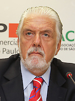 ATENCAO EDITOR: FOTO EMBARGADA PARA VEICULO INTERNACIONAL - SAO PAULO, SP, 11 NOVEMBRO 2012 - REUNIAO DO (COPS) E PLENARIA DA (ACSP)  - A Federaçao das Associaçoes  Comerciais do Estado de Sao Paulo (FACESP), recebeu nessa segunda feira em reuniao do Conselho Politico e Social (COPS), conjunta com a reuniao plenaria o prefeito de Sao Paulo Gilberto Kassab e o governador do estado da Bahia Jaques Wagner e contou com a presença de senador Jorge Bornhausen (Foto), na sede da Associaçao Comercial de Sao Paulo na regiao da  Se no centro da cidade nessa segunda, 12 (FOTO LEVY RIBEIRO/BRAZIL  PHOTO PRESS)
