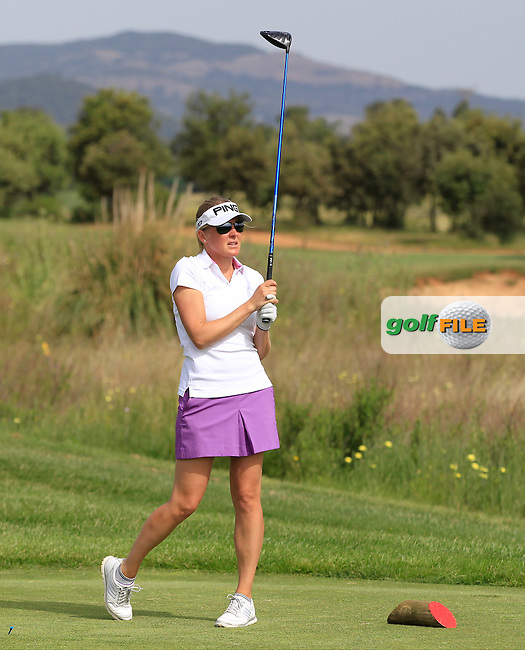 Susan Jimenez (AM) on the 6th tee during the Pro-Am of the Open de Espana  in Club de Golf el Prat, Barcelona on Wednesday 13th May 2015.<br /> Picture:  Thos Caffrey / www.golffile.ie
