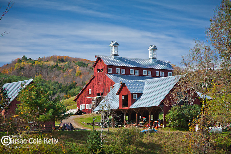 Red barn in South Royalton, VT, USA
