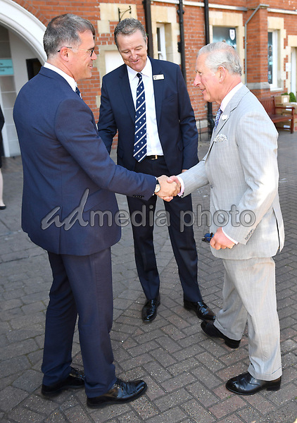 25 May 2017 - Prince Charles, Surrey County Cricket Club Chairman Richard Thompson and CEO Richard Gould at Surrey County Cricket Club. Prince Charles launches the ICC Champions Trophy at The Oval London. Photo Credit: ALPR/AdMedia