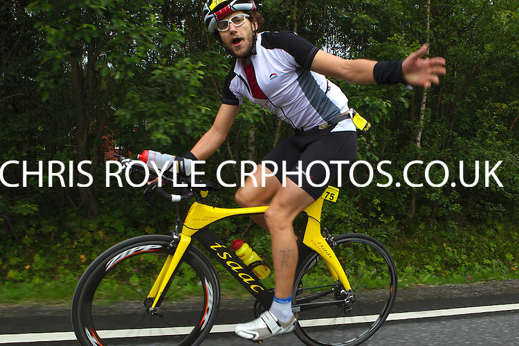 Race number 75 - Philip Hantschk Norseman 2012 - Photo by Justin Mckie Justinmckie@hotmail.com