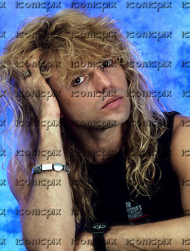 Whitesnake bass player Rudy Sarzo portrait photographed on the Whitesnake Tour of the USA at Madison Square Garden in New York City USA - Aug 20, 1987.  Photo credit: Eddie Malluk/IconicPix