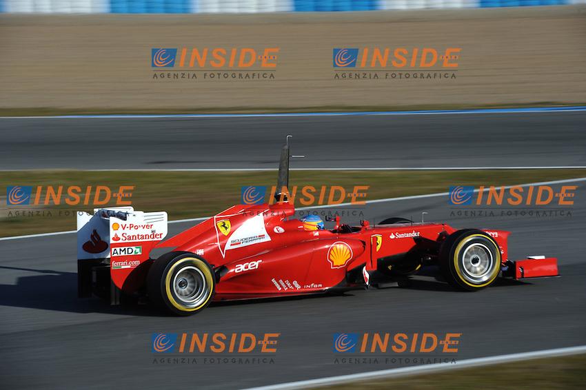 FERNANDO ALONSO (SPA) - FERRARI F151.Formula 1: Test Jerez 09/02/2012.Foto Insidefoto / Gilles Levent / PanoramiC