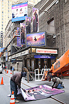 """Marquee installation for the new Broadway Musical """"Anastasia"""" starring Ramin Karimloo, Christy Altomare, and Derek Klena at the Broadhurst Theatre on February 3, 2017 in New York City."""