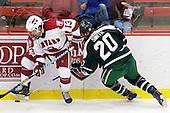 Michael Del Mauro (Harvard - 13), Rob Smith (Dartmouth - 20) - The Harvard University Crimson defeated the Dartmouth College Big Green 4-1 (EN) on Monday, January 18, 2010, at Bright Hockey Center in Cambridge, Massachusetts.