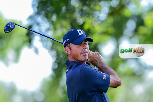 Matt Kuchar (USA) watches his tee shot on 7 during the round 2 of the Dean &amp; Deluca Invitational,  Colonial Country Club, Ft. Worth, Texas, USA. 5/27/2016.<br /> Picture: Golffile | Ken Murray<br /> <br /> <br /> All photo usage must carry mandatory copyright credit (&copy; Golffile | Ken Murray)