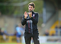 Lincoln City manager Danny Cowley applauds the fans at the final whistle<br /> <br /> Photographer Andrew Vaughan/CameraSport<br /> <br /> The EFL Sky Bet League One - Wycombe Wanderers v Lincoln City - Saturday 7th September 2019 - Adams Park - Wycombe<br /> <br /> World Copyright © 2019 CameraSport. All rights reserved. 43 Linden Ave. Countesthorpe. Leicester. England. LE8 5PG - Tel: +44 (0) 116 277 4147 - admin@camerasport.com - www.camerasport.com