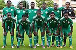 25.05.2010, Alpenstadion, Wattens, AUT, FIFA Worldcup Vorbereitung, Testspiel Nigeria (NGA) vs Saudi Arabien (KSA), im Bild Mannschaftsfoto Nigeria: v.l. hinten, Nwankwo Kanu ( NGA #4 ),Anichebe Victor ( NGA #10 ), Joseph Yobo ( NGA #2 ), Taye Taiwo ( NGA #3 ), Danny Shittu ( NGA #6 ) und Austin Ejide ( NGA Keeper #16 ), v.l. vorne: Chinedu Obasi ( NGA #7 ), Shittu Daniel ( NGA #5 ), Uwa Elderson Echiejile (Uwa Elderson Echiéjilé) ( NGA #21 ), Kalu Uche ( NGA #12 ), Haruna Lukman ( NGA #19 ). EXPA Pictures © 2010, PhotoCredit: EXPA/ J. Groder