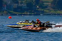 """Jim Labrie, GP-111 """"Advance United"""" (1980 Grand Prix class Lauterbach hydroplane), H-25 """"Annie's Dodge"""" (7 Litre Hydroplane)"""