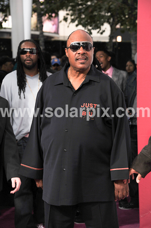 **ALL ROUND PICTURES FROM SOLARPIX.COM**                                             **SYNDICATION RIGHTS FOR UK, AUSTRALIA, DENMARK, PORTUGAL, S. AFRICA, SPAIN & DUBAI (U.A.E) & ASIA (EXCLUDING JAPAN) ONLY**                                                                                  Caption:  arrivals on the T-Mobile Magenta Carpet At The 2011 NBA All-Star Game at LA Live, Los Angeles, USA. 20 February 2011                                                                             This pic: Stevie Wonder                                                                            JOB REF: 12867 PHZ Berezovsky      DATE: 20_02_2011                                                          **MUST CREDIT SOLARPIX.COM OR DOUBLE FEE WILL BE CHARGED**                                                                      **MUST AGREE FEE BEFORE ONLINE USAGE**                               **CALL US ON: +34 952 811 768 or LOW RATE FROM UK 0844 617 7637**