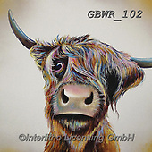 Simon, REALISTIC ANIMALS, REALISTISCHE TIERE, ANIMALES REALISTICOS, paintings+++++Card_AdamB_ABadHairDay,GBWR102,#a#, EVERYDAY,cow,bull