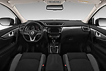 Stock photo of straight dashboard view of a 2017 Nissan Qashqai N Connect 5 Door SUV