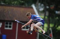 FIERLJEPPEN: IT HEIDENSKIP: 03-06-2013, 1e Klas wedstrijd, Junioren 1e klasse, Age Hulder, ©foto Martin de Jong
