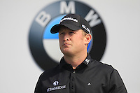Jamie Donaldson (WAL) on the 1st tee to start his match during Sunday's Final Round of the 2014 BMW Masters held at Lake Malaren, Shanghai, China. 2nd November 2014.<br /> Picture: Eoin Clarke www.golffile.ie