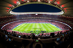Atletico de Madrid fans flock to the Wanda Metropolitano prior to the La Liga 2017-18 match between Atletico de Madrid and Malaga CF on 16 September 2017 in Madrid, Spain. Photo by Diego Gonzalez / Power Sport Images