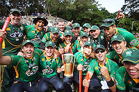 The Stags celebrate winning the HRV Cup. 2010 HRV Cup Twenty20 cricket final - Central Stags v Auckland Aces at Pukekura Park, New Plymouth. Sunday, 31 January 2010. Photo: Dave Lintott / lintottphoto.co.nz.