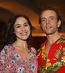 Alison Luff and Paul Alexander Nolan during the Press Sneak Peak for the Jimmy Buffett  Broadway Musical 'Escape to Margaritaville' on February 15, 2018 at the Marquis Theatre in New York City.