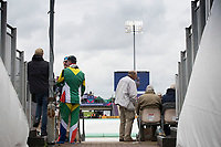 A view through the seating on the concourse as play is suspended for rain during South Africa vs West Indies, ICC World Cup Cricket at the Hampshire Bowl on 10th June 2019