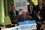 Palestinian President Mahmoud Abbas, meets with Participates in the Summit Sustainable Development in New York, United States on September 24, 2019. Photo by Thaer Ganaim