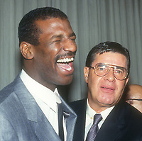 Michael Spinks Jerry Lewis<br /> 1991<br /> Photo By John Barrett/CelebrityArchaeology.com