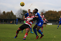 Reece Hall of Kingstonian comes under pressure during Kingstonian vs Lewes, BetVictor League Premier Division Football at King George's Field on 16th November 2019