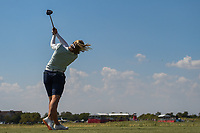Brooke M. Henderson (CAN) watches her tee shot on 18 during the round 3 of the Volunteers of America Texas Classic, the Old American Golf Club, The Colony, Texas, USA. 10/5/2019.<br /> Picture: Golffile   Ken Murray<br /> <br /> <br /> All photo usage must carry mandatory copyright credit (© Golffile   Ken Murray)