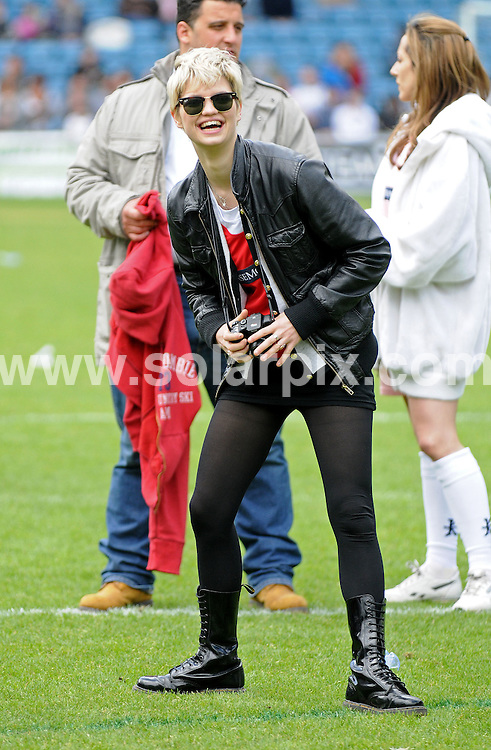 **ALL ROUND PICTURES FROM SOLARPIX.COM**.**WORLDWIDE SYNDICATION RIGHTS**.Pixie Geldof playing at the Soccer Six football match in London today..JOB REF:    6433   SSD     DATE: 18.05.08.**MUST CREDIT SOLARPIX.COM OR DOUBLE FEE WILL BE CHARGED* *UNDER NO CIRCUMSTANCES IS THIS IMAGE TO BE REPRODUCED FOR ANY ONLINE EDITION WITHOUT PRIOR PERMISSION*