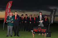 Team England, winners of the Men's Home Internationals 2018 at Conwy Golf Club, Conwy, Wales on Friday 14th September 2018.<br /> Picture: Thos Caffrey / Golffile<br /> <br /> All photo usage must carry mandatory copyright credit (&copy; Golffile | Thos Caffrey)