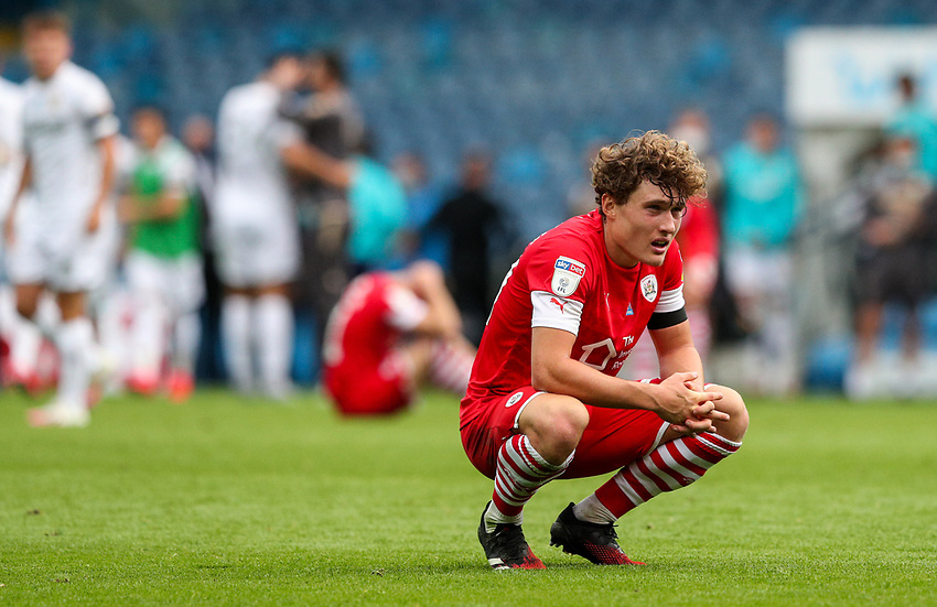 Barnsley's Callum Styles reacts after the match<br /> <br /> Photographer Alex Dodd/CameraSport<br /> <br /> The EFL Sky Bet Championship - Leeds United v Barnsley - Thursday 16th July 2020 - Elland Road - Leeds<br /> <br /> World Copyright © 2020 CameraSport. All rights reserved. 43 Linden Ave. Countesthorpe. Leicester. England. LE8 5PG - Tel: +44 (0) 116 277 4147 - admin@camerasport.com - www.camerasport.com