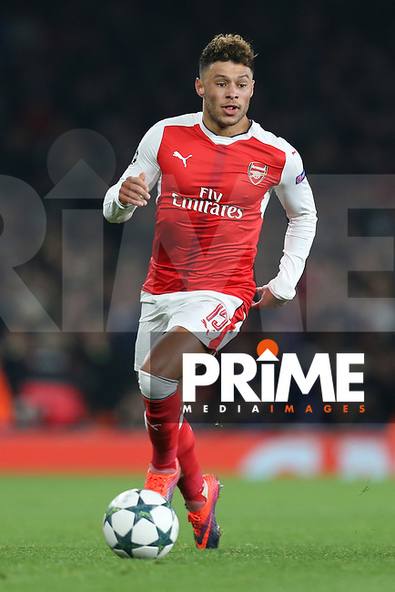 Alex Oxlade-Chamberlain of Arsenal during the UEFA Champions League match between Arsenal and Paris Saint Germain at the Emirates Stadium, London, England on 23 November 2016. Photo by David Horn.