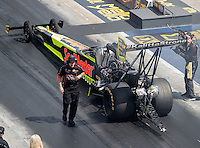 Sep 17, 2016; Concord, NC, USA; Rob Flynn , crew chief for NHRA top fuel driver J.R. Todd during qualifying for the Carolina Nationals at zMax Dragway. Mandatory Credit: Mark J. Rebilas-USA TODAY Sports