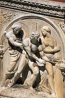 Fonte Gaia auf Il Campo, Siena, Toskana, Italien, Unesco-Weltkulturerbe