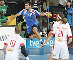 25.01.2013 Barcelona, Spain. IHF men's world championship, Semi-final. Picture show Zlatko Horvat in action during game between Spain vs Slovenia at Palau St. Jordi