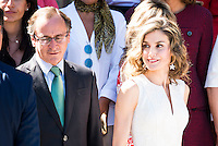 Health Minister Alfonso Alonso and Queen Letizia of Spain during the 25th edition of FEDEPE Awards at Jardines de Cecilio Rodriguez in Madrid, Spain. July 26, 2016. (ALTERPHOTOS/BorjaB.Hojas)