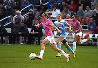 Kansas City, MO - Friday May 13, 2016: FC Kansas City midfielder Jen Buczkowski (6) against the Chicago Red Stars during a regular season National Women's Soccer League (NWSL) match at Swope Soccer Village. The match ended 0-0.