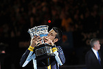 Novak Djokovic (SRB) Defeats Andy Murray (GBR) in final of Australian Open, 6-7, 7-6, 6-3, 6-2