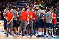 Spain's basketball player team during the  match of the preparation for the Rio Olympic Game at Madrid Arena. July 23, 2016. (ALTERPHOTOS/BorjaB.Hojas) /NORTEPHOTO.COM